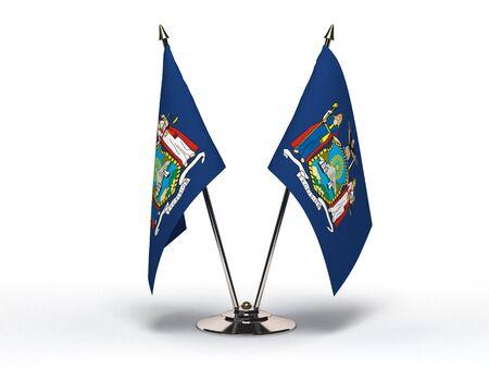 Miniature Flag of New York Isolated Stock Photo - 16076462