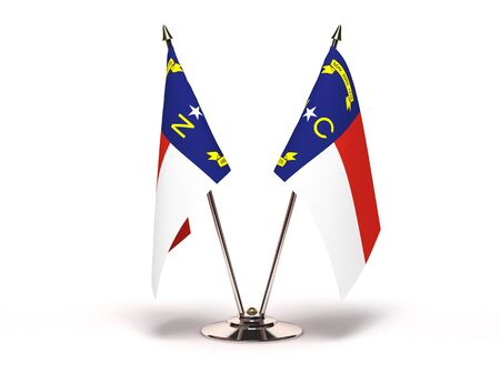 Miniature Flag of North Carolina Isolatedh Stock Photo - 16076132