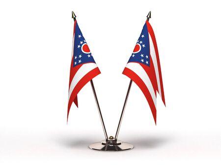 Miniature Flag of Ohio Isolated  Stock Photo - 16076181