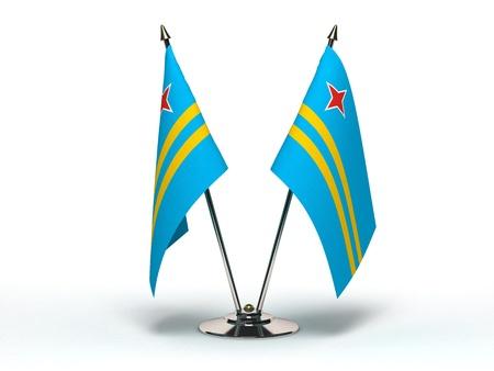 Miniature Flag of Aruba Stock Photo - 16564527