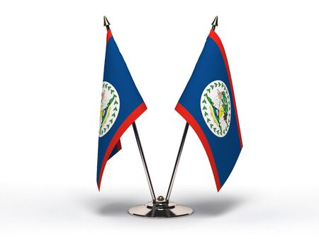 Miniature Flag of Belize  Stock Photo - 16564515