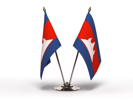 Miniature Flag of Cambodia Stock Photo - 16564513