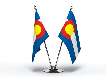 Miniature Flag of Colorado  Stock Photo - 16564481