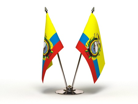 Miniature Flag of Equador Stock Photo - 16564525