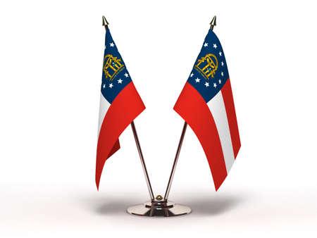 Miniature Flag of Georgia  Stock Photo - 16564517