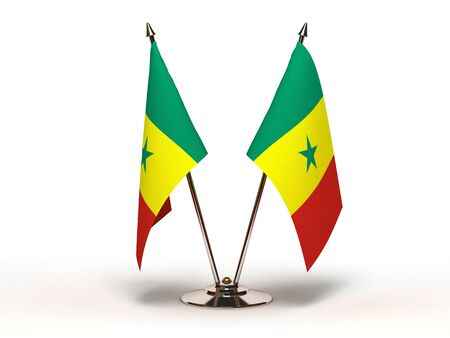Miniature Flag of Senegal   Stock Photo