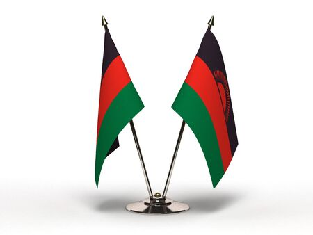 Miniature Flag of Malawi  Isolated with clipping path  Stock Photo - 16752909