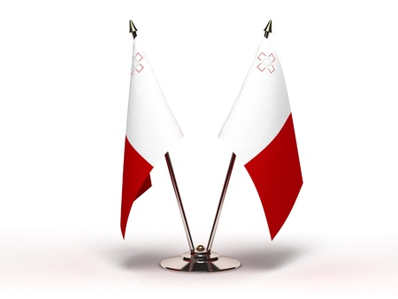 Miniature Flag of Malta  Isolated with clipping path Stock Photo - 16752910