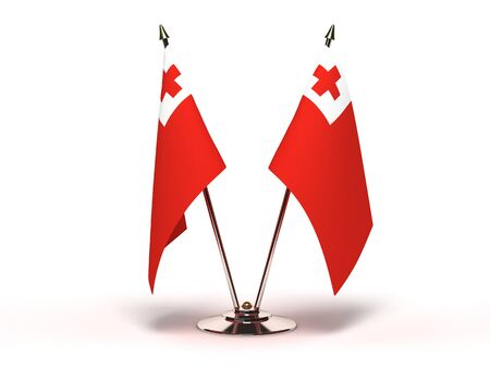 Miniature Flag of Tonga  Isolated with clipping path Stock Photo - 16752906