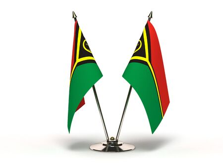 Miniature Flag of Vanuatu  Isolated with clipping path  Stock Photo