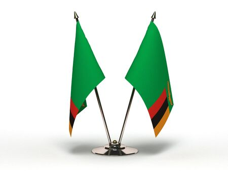 Miniature Flag of Zambia  Isolated with clipping path  Stock Photo - 16752914