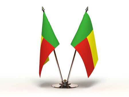 Miniature Flag of Benin  Isolated with clipping path  Stock Photo