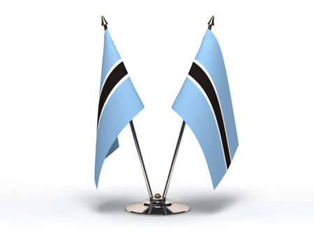 Miniature Flag of Botswana  Isolated with clipping path