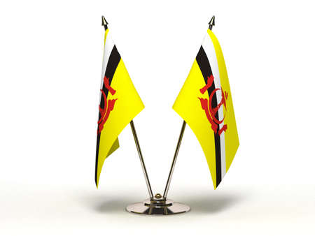 Miniature Flag of Brunei  Isolated with clipping path Stock Photo - 16804207