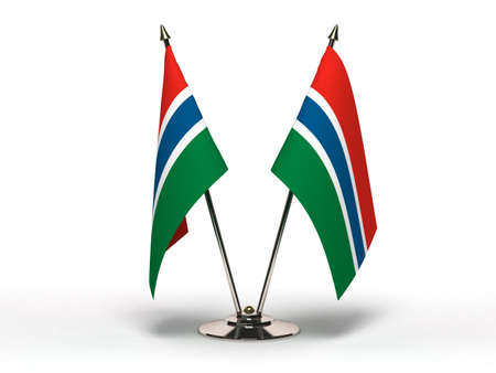 Miniature Flag of Gambia  Isolated with clipping path Stock Photo - 16804205