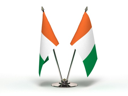 Miniature Flag of Ivory Coast  Isolated with clipping path Stock Photo - 16804204