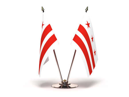 columbia district: Miniature Flag of District of Columbia Isolated with clipping path