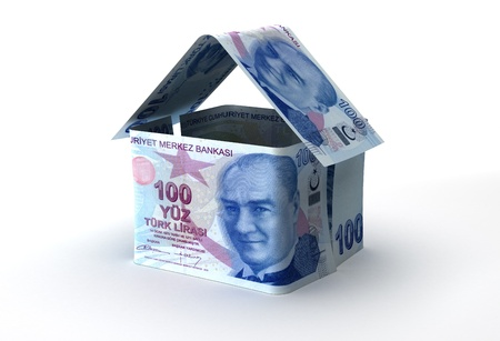Real Estate Finance  Turkish Lira  Stock Photo