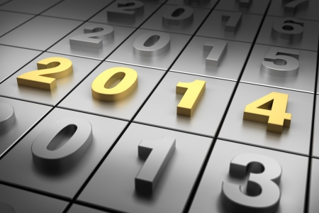 New Year 2014 Banque d'images