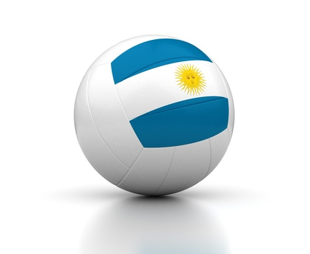 Argentinian Volleyball Team  isolated with clipping path  Stock Photo