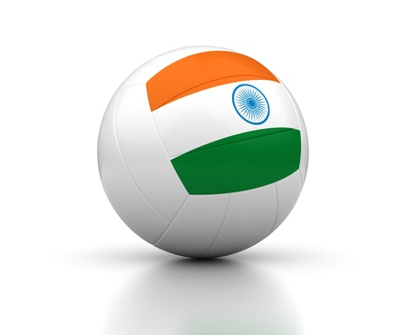 Indian Volleyball Team  isolated with clipping path  Stock Photo