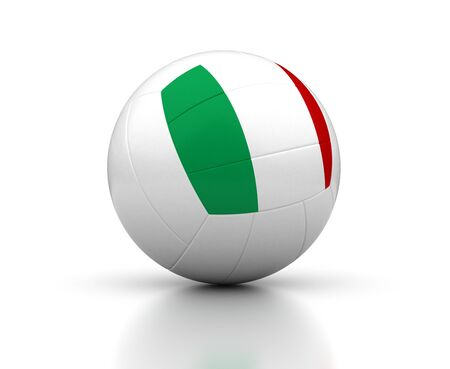 Italian Volleyball Team  isolated with clipping path  Stock Photo