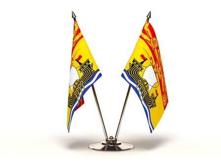 Miniature Flag of New Brunswick Isolated with clipping path  photo