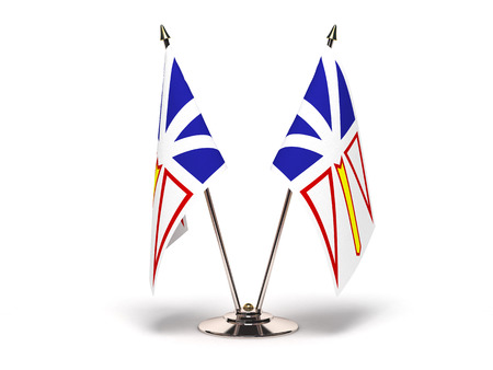 Newfoundland: Miniature Flag of Newfoundland Isolated with clipping path