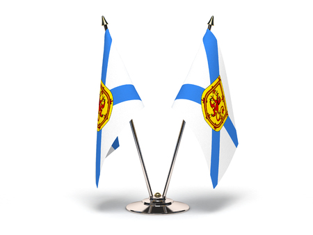 Miniature Flag of Nova Scotia Isolated with clipping path  Stock Photo