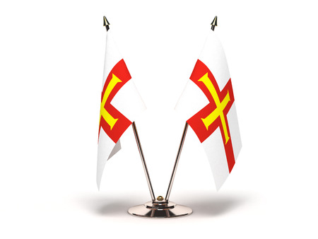 Miniature Flag of Guernsey Isolated with clipping path