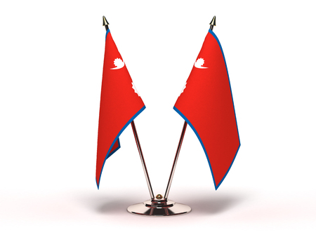 Miniature Flag of Nepal Isolated with clipping path