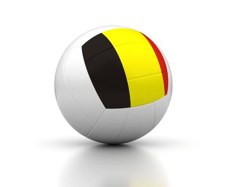 Belgian Volleyball Team  isolated with clipping path