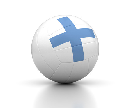 Finnish Volleyball Team  isolated with clipping path