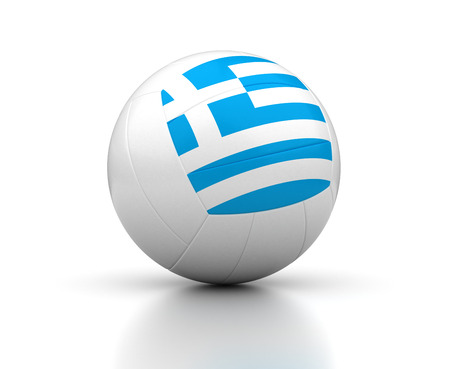 Greek Volleyball Team  isolated with clipping path