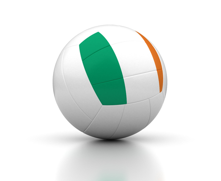 Irish Volleyball Team  isolated with clipping path