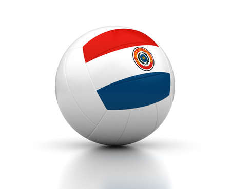 Paraguayan Volleyball Team  isolated with clipping path  Stock Photo