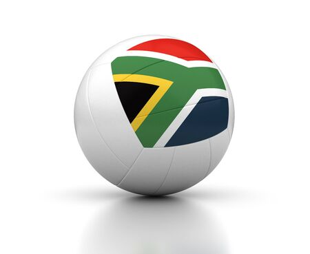 south african: South African Volleyball Team  isolated with clipping path