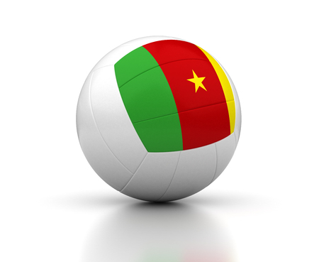 Cameroon Volleyball Team  isolated with clipping path
