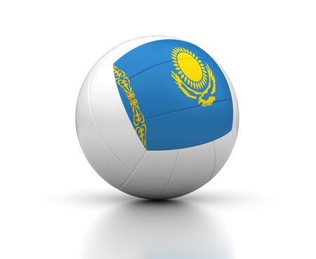 kazakh: Kazakh Volleyball Team  isolated with clipping path