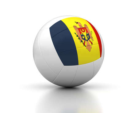Moldovan Volleyball Team  isolated with clipping path