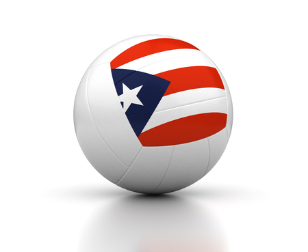 Puerto Rican Volleyball Team  isolated with clipping path  Stock Photo