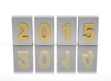 New Year 2015 and 2014 Stock Photo