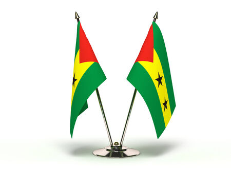 Miniature Flag of Sao Tome and Principe(Isolated with clipping path) photo