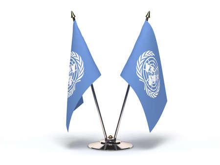 Miniature Flag of UN(Isolated with clipping path)