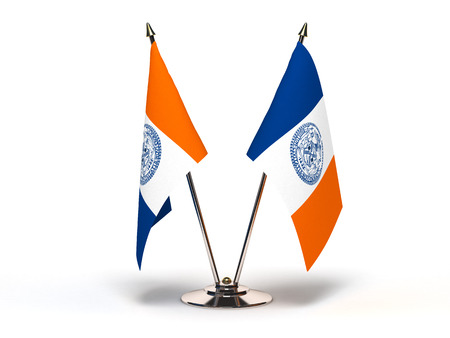 Miniature Flag of New York City(Isolated with clipping path)
