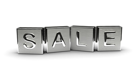 Metal Sale Text Stock Photo