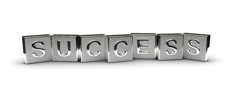 Metall Success Text Lizenzfreie Bilder