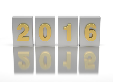 New Year 2016 and old 2015 Stock Photo