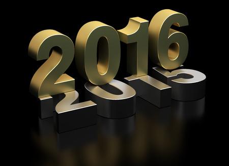Neues Jahr 2016 und 2015 alt Lizenzfreie Bilder
