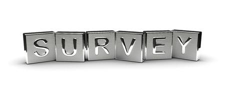 Metal Survey Text isolated on white background Stock Photo